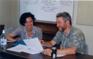 Harold and Leanne Boschmann at the Victoria School of Writing