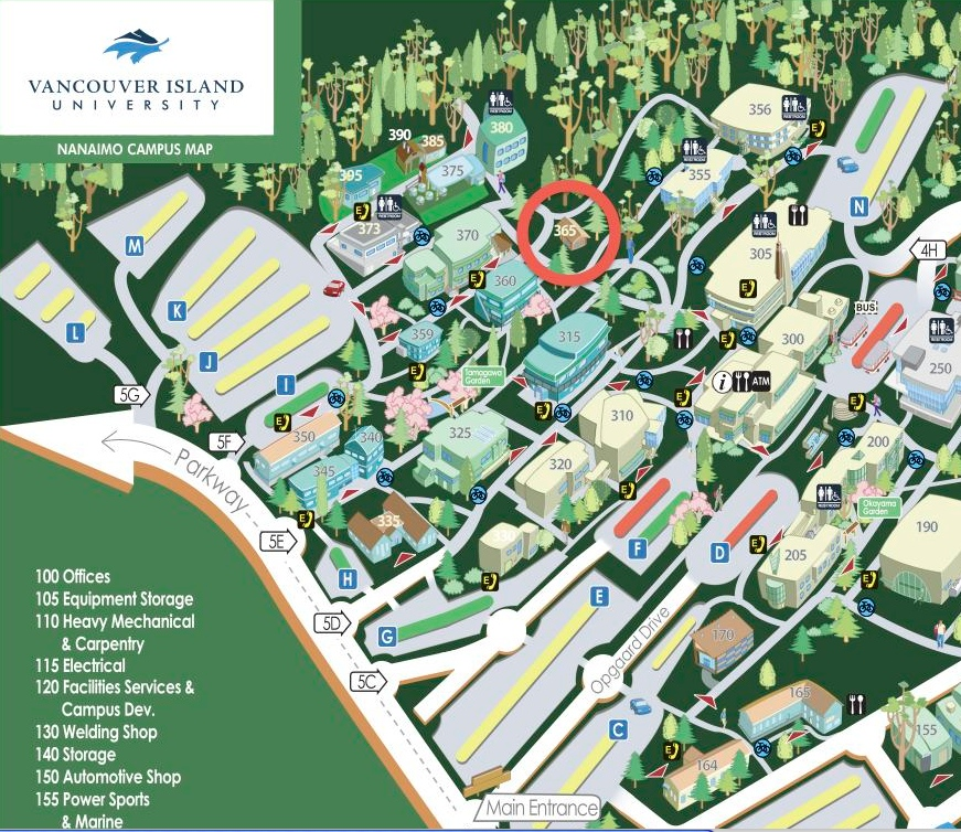 Building Map Of Vancouver Island University
